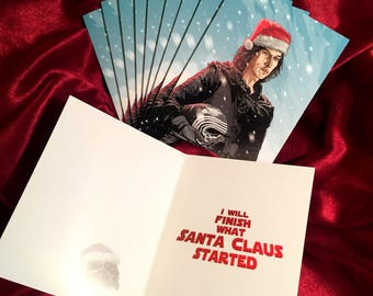 KYLO REN 10 Pack Star Wars Christmas CARDS!