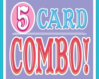 ANY 5 Cards DISCOUNT COMBO!