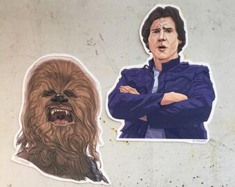 Han Solo Chewbacca Sticker COMBO