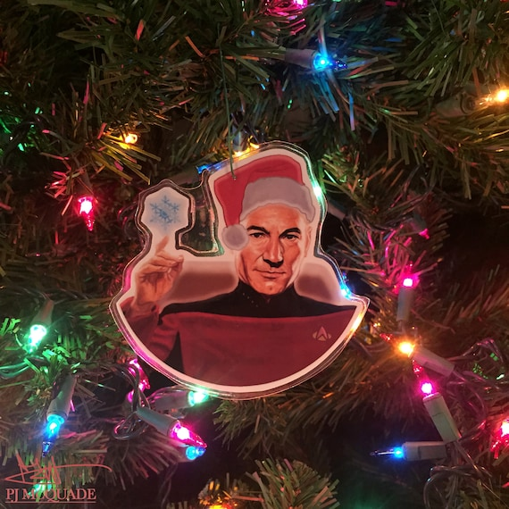 image 0 - PICARD Star Trek CHRISTMAS ORNAMENT Etsy
