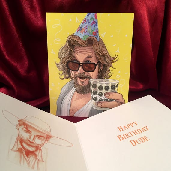 The Big Lebowski Birthday Card Etsy