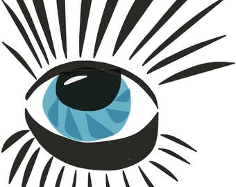 Eye and Eyelashes Pop Art Print