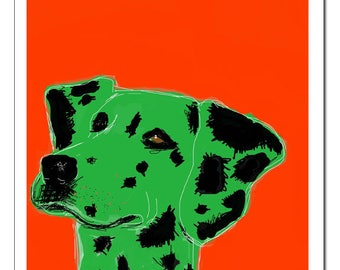 Dalmatian Dog Illustration-Pop Art Print