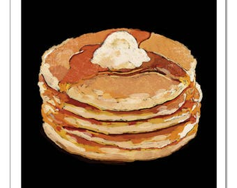 Pancakes-Pop Art Print