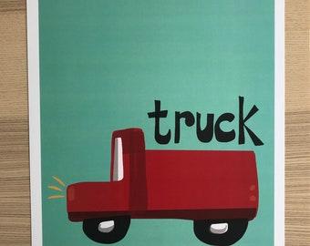 Truck Pop Art Print