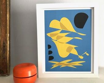 Mid Century Modern-Inspired Original Art Print