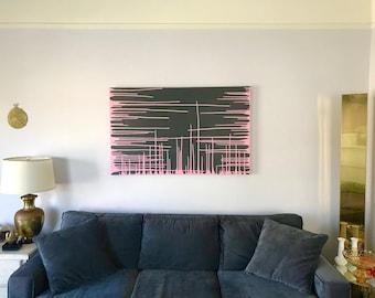 Original Drip Art-Abstract Wall Painting