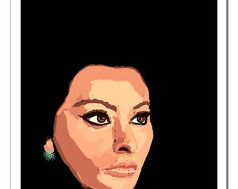 Sophia Loren-Pop Art Print