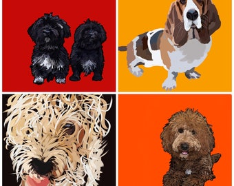 Dog Portraits-Custom and Unique