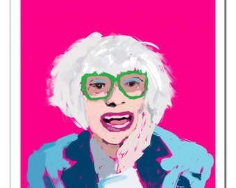 Carol Channing Pop Art Print-Original