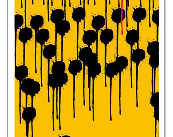 Original Design Illustration Drips-Pop Art Print