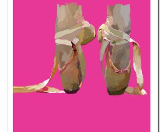Ballet Shoes Illustration-Pop Art Print