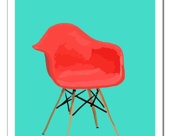 Eames Chair Red-Original Pop Art