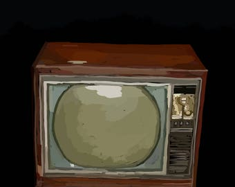 Television Illustration-Pop Art Print