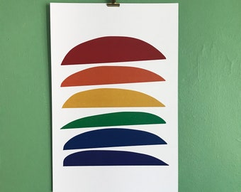 Deconstructed Rainbow Pop Art Print