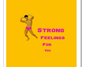 Strong Feelings For You Illustration-Pop Art Print