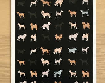 Multitudes of Dogs Pop Art Print