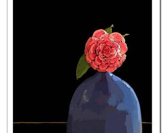 Flower Still Life Illustration-Pop Art Print