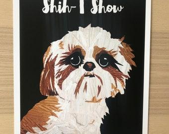 Shih-T-Show Shih Tzu Dog Art Print