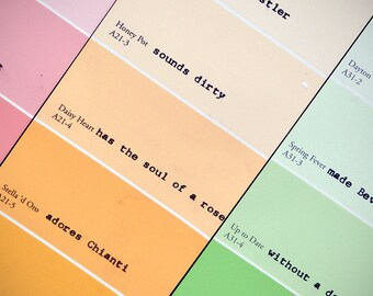 Original Rainbow Paint Chip Word-Wall Art