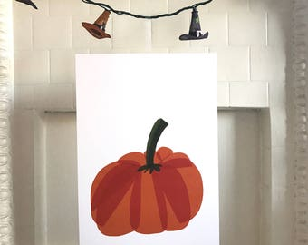Pumpkin Halloween Art Print