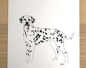 Dalmation Original Illustration Print