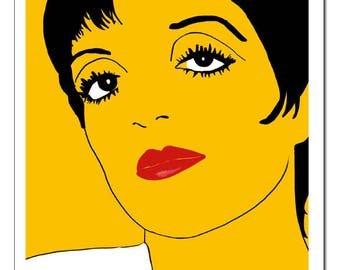 Liza Minnelli Pop Art Print-Original