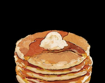 Pancakes Pop Art Illustration Print
