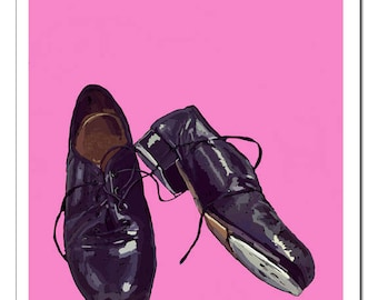 Tap Shoes Illustration-Pop Art Print