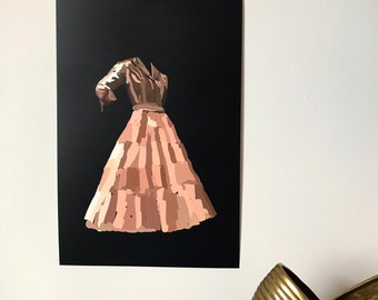 Vintage Dress-Pop Art Illustration