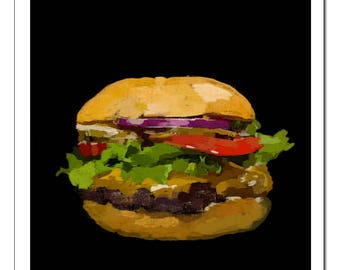 Hamburger-Pop Art Print