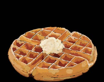 Waffle-Pop Art Print