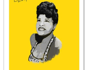 Jazz Ella Fitzgerald-Pop Art Print