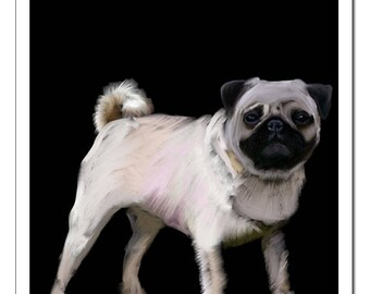 Pug Dog Illustration-Pop Art Print