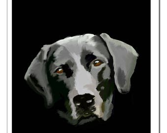 Black Lab Dog Print-Pop Art