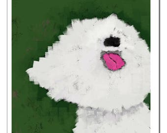 Bichon Dog Paint Style-Pop Art Print