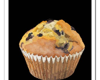 Blueberry Muffin-Pop Art Print