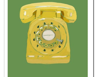Rotary Phone Illustration