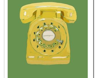 Rotary Phone Illustration