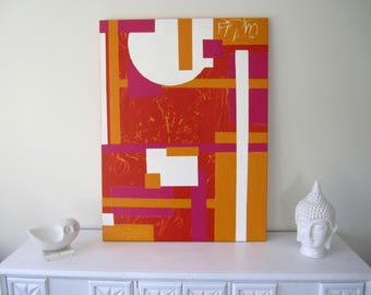 Original Art-Abstract Wall Painting