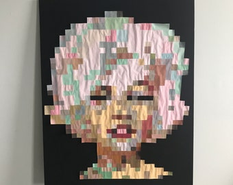 Marilyn Monroe Original Painting in Gouache