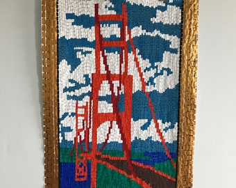 Golden Gate Bridge Original Painting in Gouache
