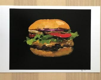 Hamburger-Pop Art Print