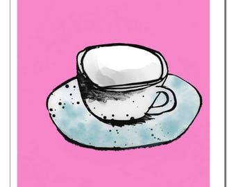Coffee Cup n' Saucer Art Print