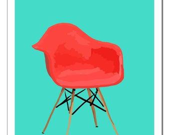 Eames Chair Red-Original Pop Art