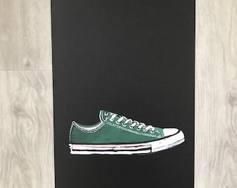 Converse Shoe Illustration Art Print