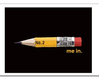 Pencil Me In Illustration-Pop Art Print