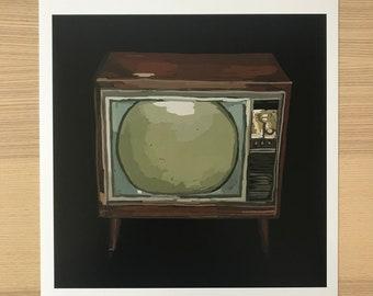 Television Illustration-Pop Art Print