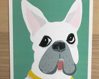 Frenchie Dog Art Print