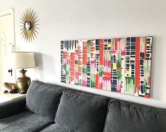 Original Deconstructed Abstract Painting